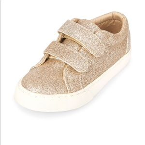 The Children's place Gold glitter shoes size 4